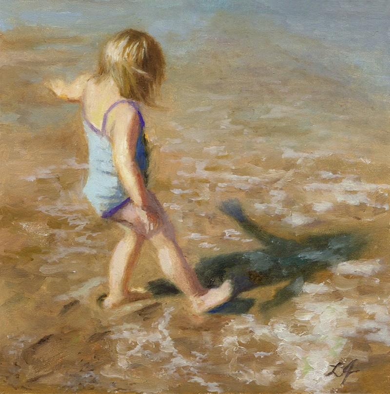 """It's Cold"" original fine art by Linda Jacobus"