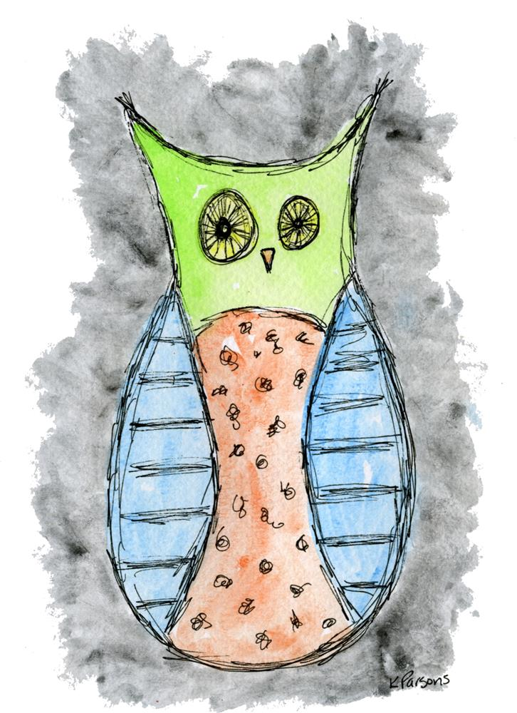 """A Most Mellow Owl"" original fine art by Kali Parsons"