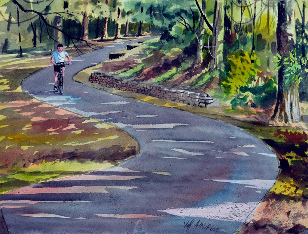 """Morning Ride"" original fine art by Jeff Atnip"