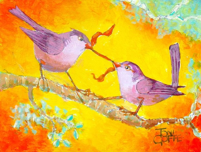 """Wren Wrench"" original fine art by Toni Goffe"
