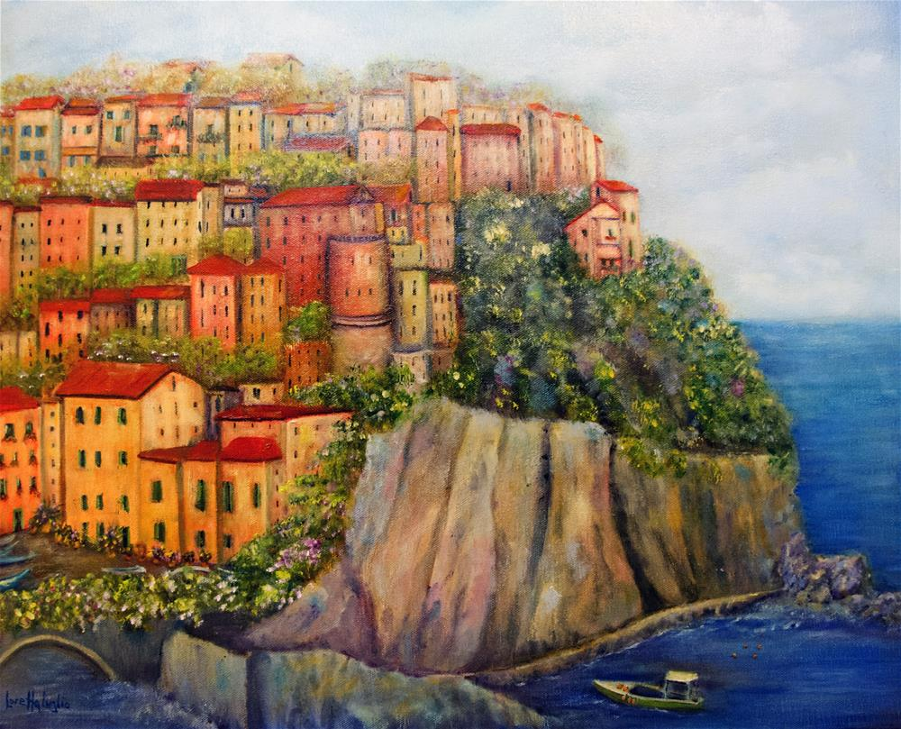 """""""Cinque Terre"""" original fine art by Loretta Luglio"""