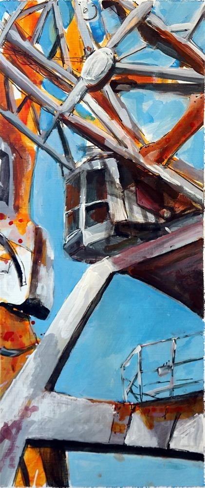 """2517 Crane 05"" original fine art by Dietmar Stiller"