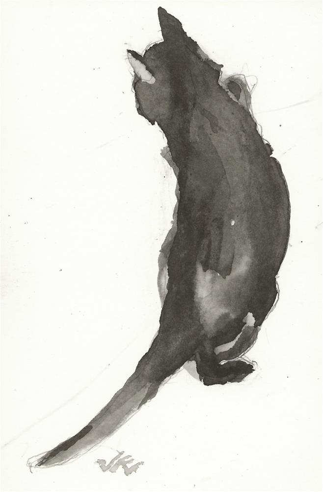 """Daily Cat 150"" original fine art by Jean Krueger"