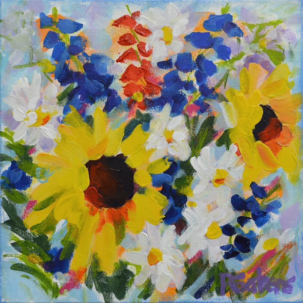 """""""Sunflower Medley"""" original fine art by Pamela Gatens"""