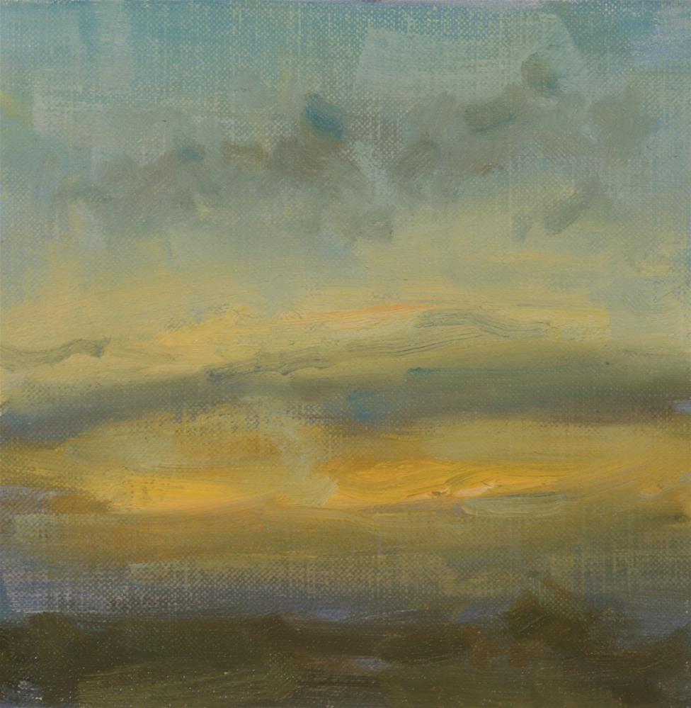 """""""Fall Sunrise 12"""" original fine art by Scott Serafica"""