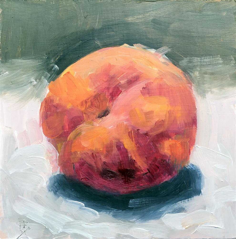 """082 Peach"" original fine art by Fred Bell"