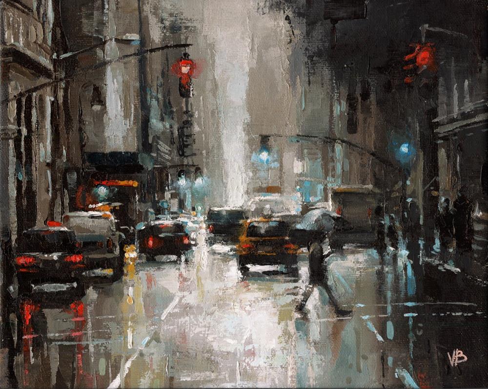 """""""Broadway No.4"""" original fine art by Victor Bauer"""