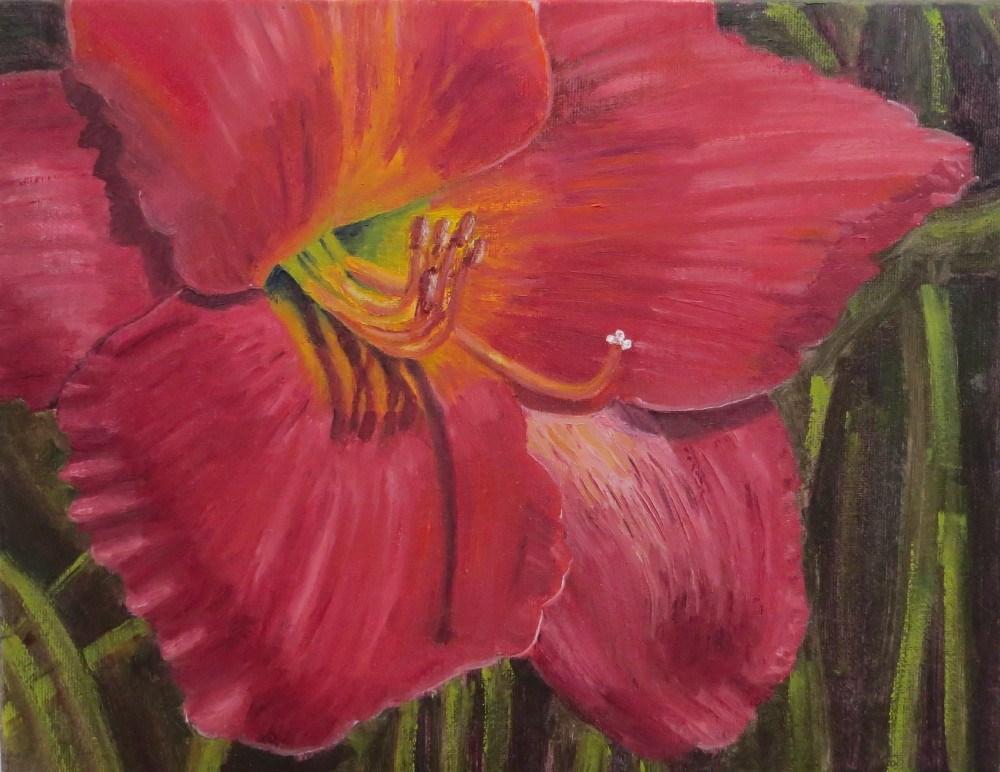 """""""Red Hibiscus"""" original fine art by Richard Kiehn"""