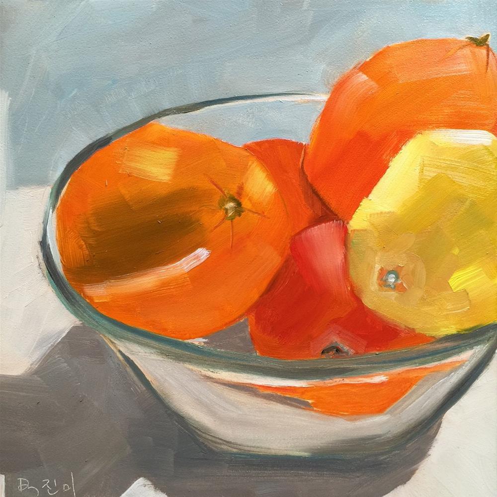 """129 Bowl of Citrus"" original fine art by Jenny Doh"
