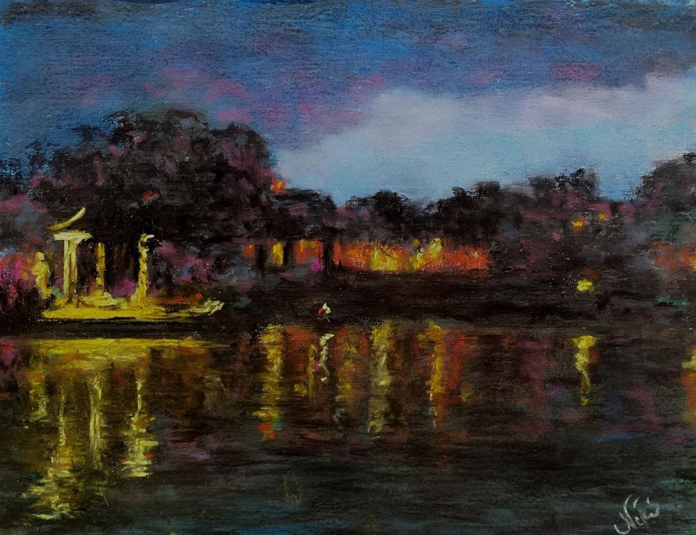 """Luminous Night"" original fine art by Niki Hilsabeck"