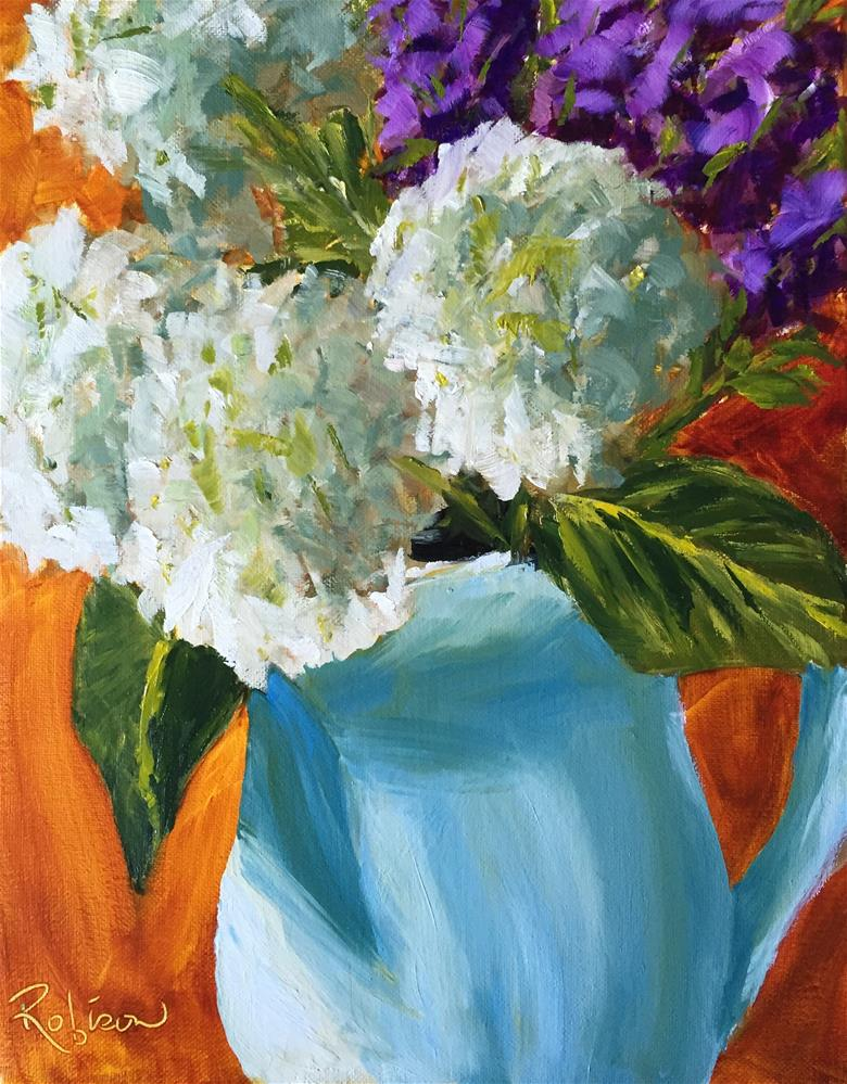 """Floral Shadows"" original fine art by Renee Robison"