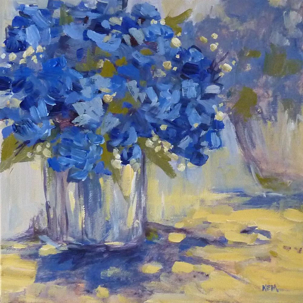 """""""Variation on a Theme...Hydrangeas"""" original fine art by Karen Margulis"""