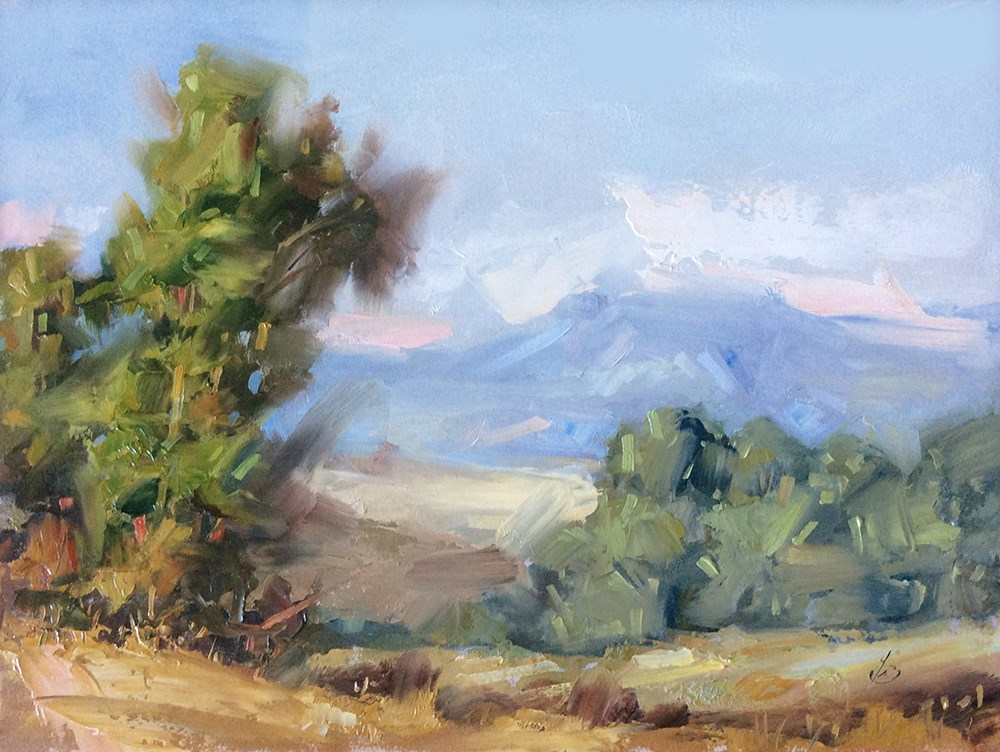 """CALIFORNIA PLEIN AIR LANDSCAPE"" original fine art by Tom Brown"