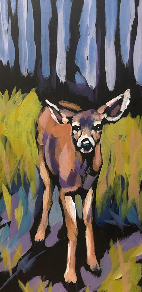 """Forest Watcher"" original fine art by Kat Corrigan"