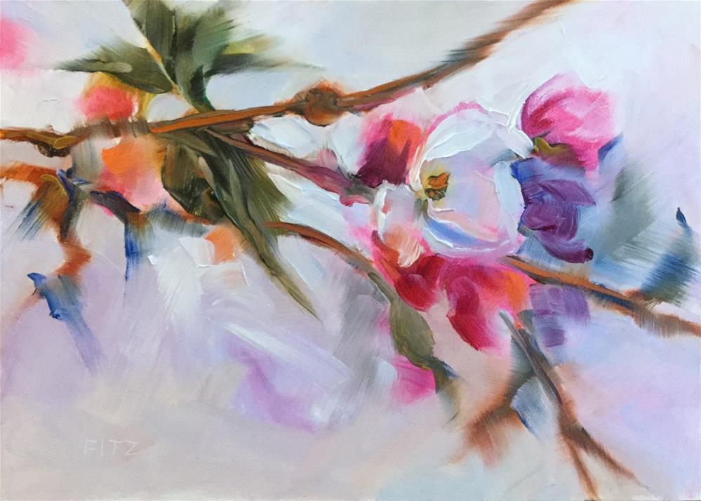 """Apple Blossoms"" original fine art by Charlotte Fitzgerald"