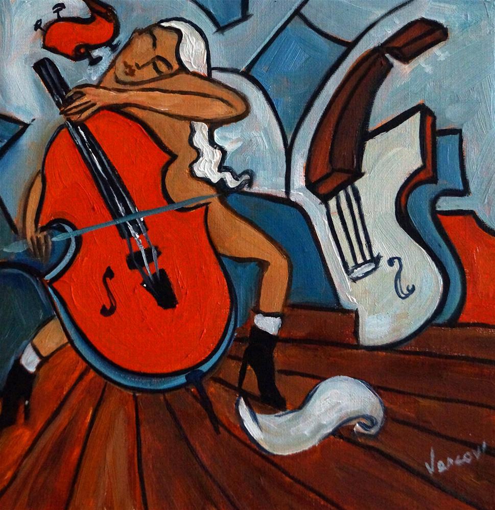 """""""Le Violon Rouge"""" original fine art by Valerie Vescovi"""