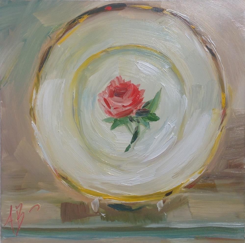"""The Rose Plate"" original fine art by Annette Balesteri"