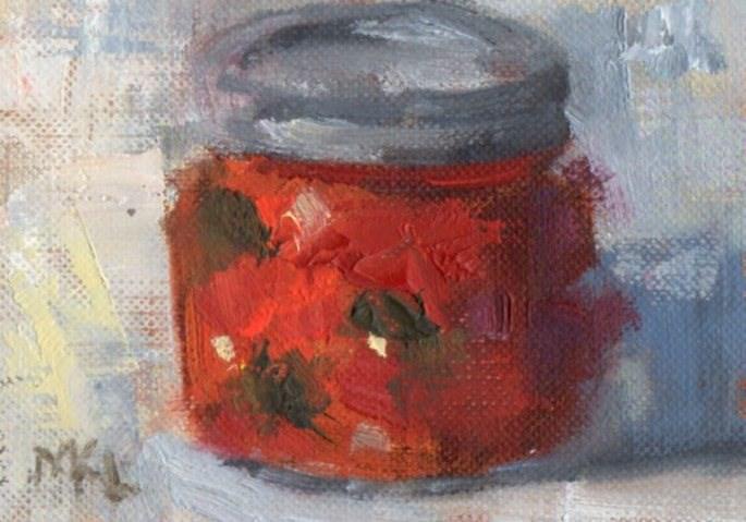 """A Jar of Salsa"" original fine art by Marlene Lee"