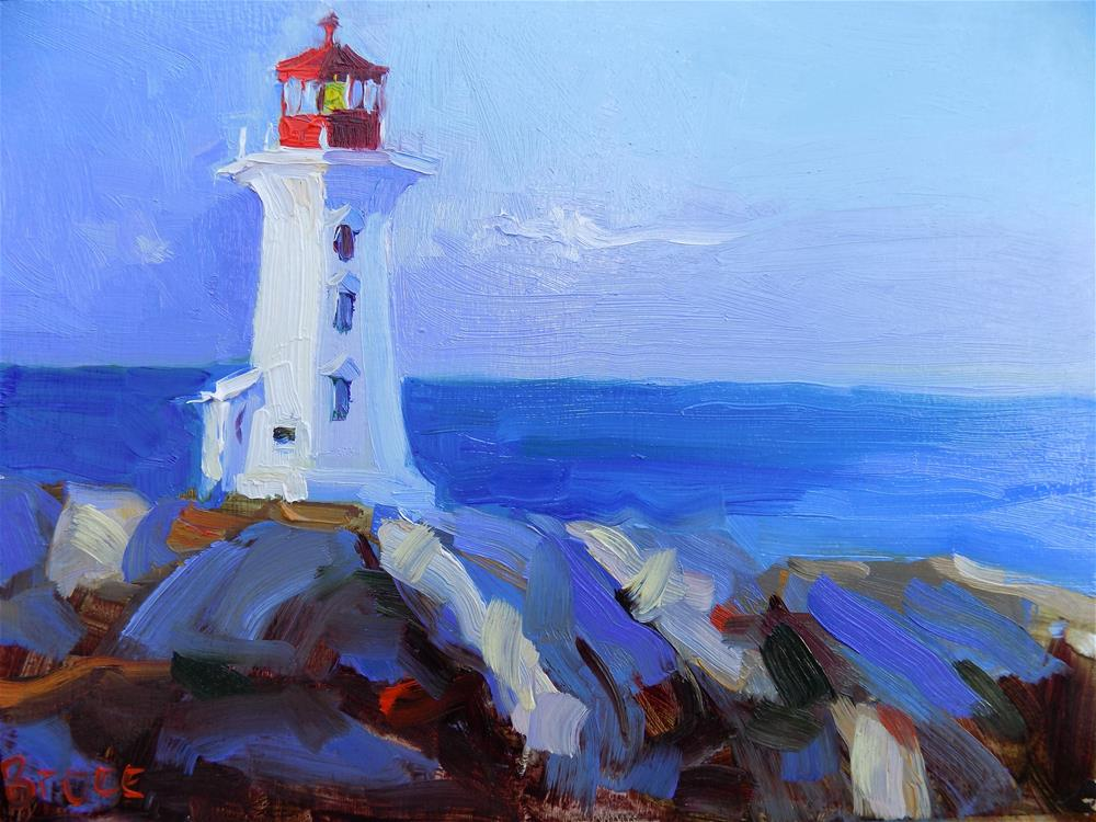 """Peggy's Cove Light"" original fine art by Rita Brace"