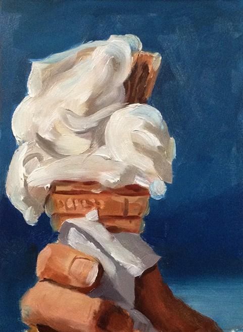 """Ice Cream Challenge"" original fine art by Tom Pitman"