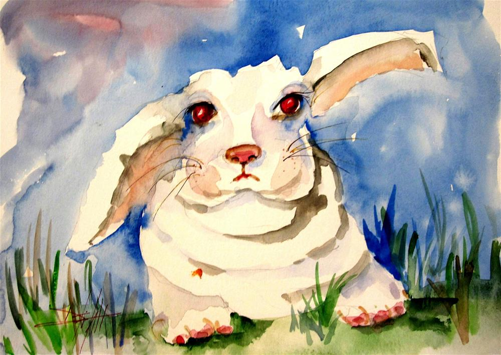 """Bunny Rabbit"" original fine art by Delilah Smith"