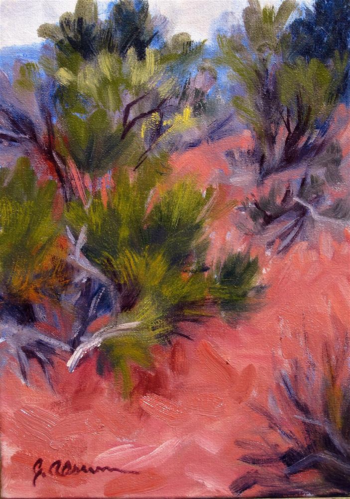 """""""Desert Red / Spring Green"""" original fine art by Gary Alsum"""