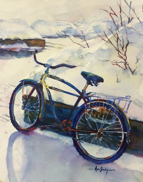"""Winter Townie"" original fine art by Ann Sharkey"