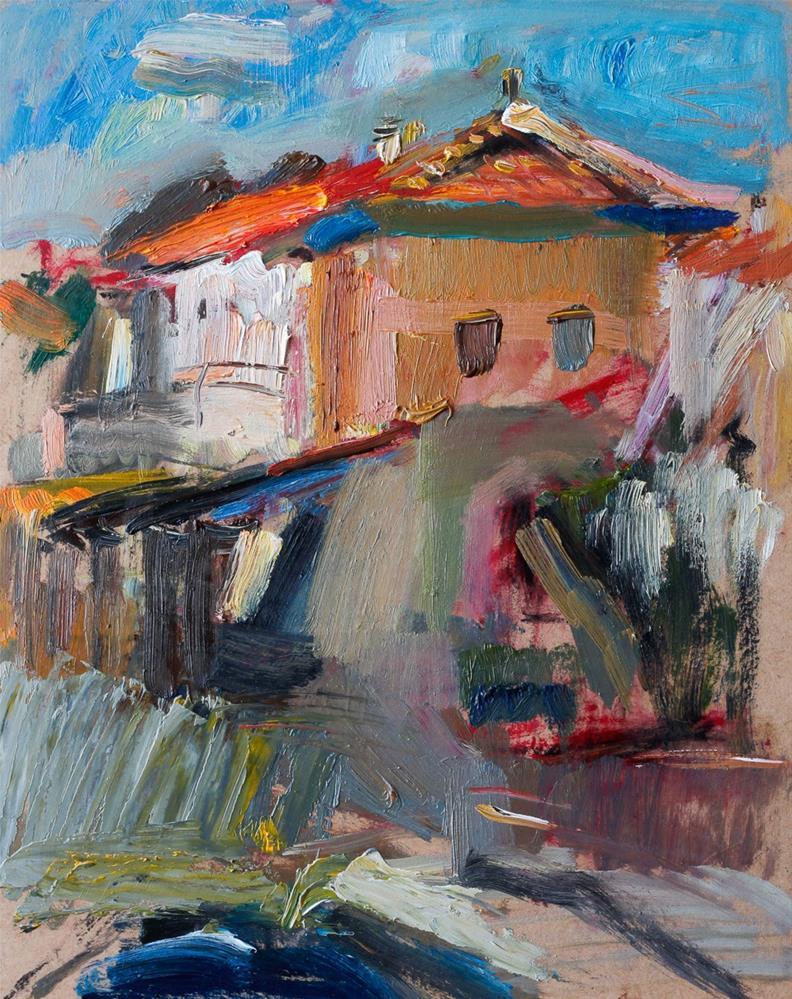 """Summer Spanish Sky"" original fine art by Anna Fine Art"