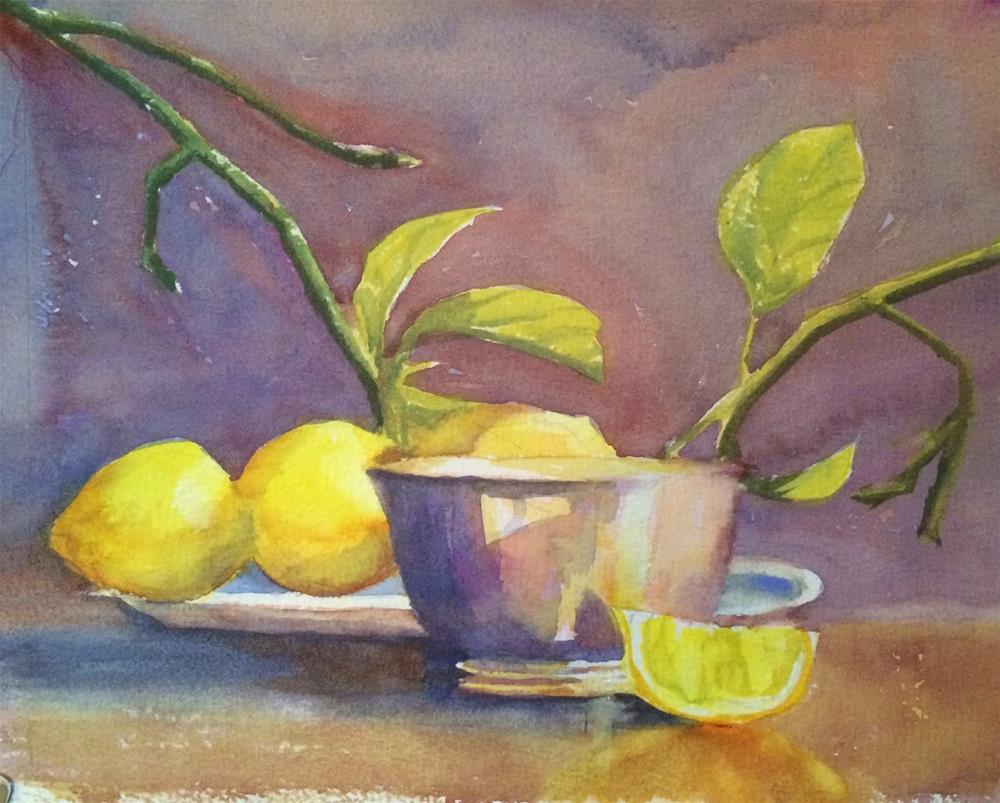 """Lemon and Silver"" original fine art by Katharine Engh"