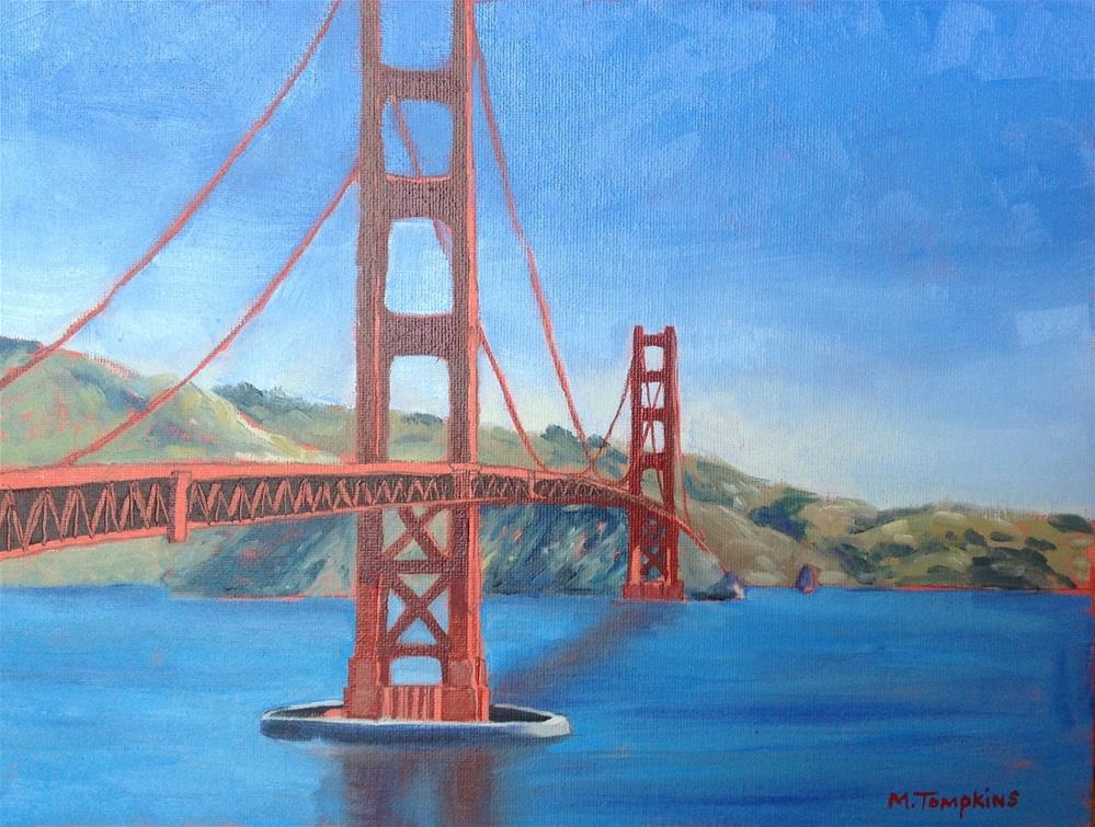 """Bridge Over the Bay"" original fine art by Mark Tompkins"