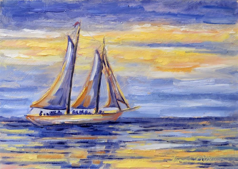 """""""Sailing Sister Bay"""" original fine art by Tammie Dickerson"""