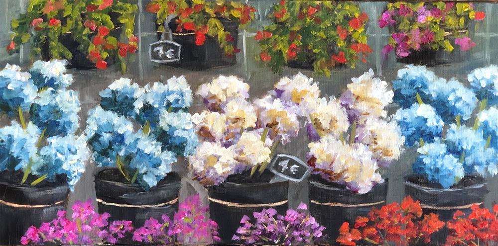 """""""French Market Hydrangeas"""" original fine art by Renee Robison"""