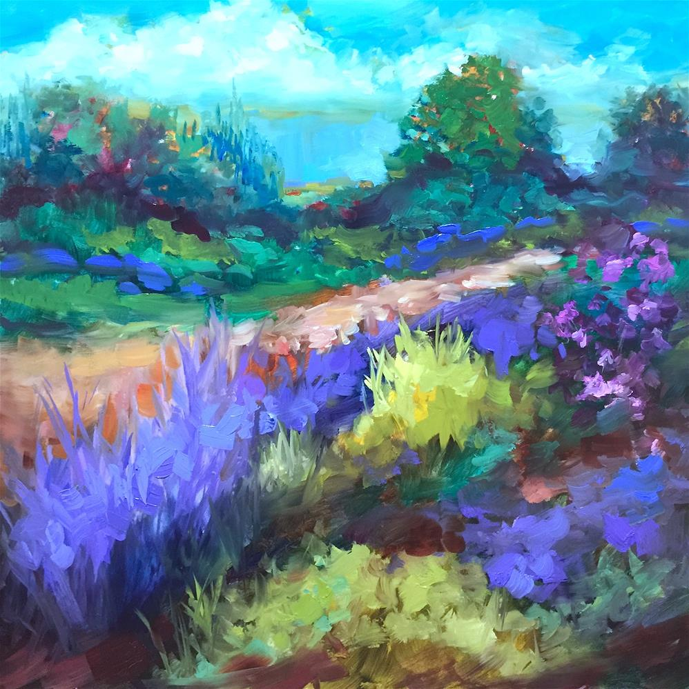 """Texas Lavender and Color Boot Camp"" original fine art by Nancy Medina"