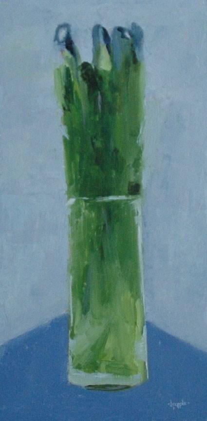 """MUSCARI"" original fine art by Linda Popple"