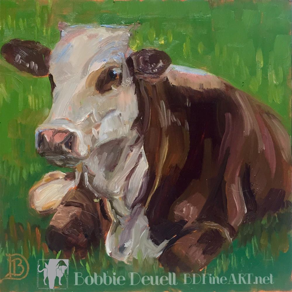 """#22 Sweet Cow"" original fine art by Bobbie Deuell"