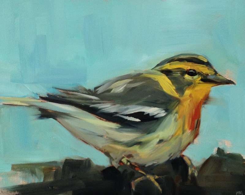 """W is for Warbler"" original fine art by Patti McNutt"