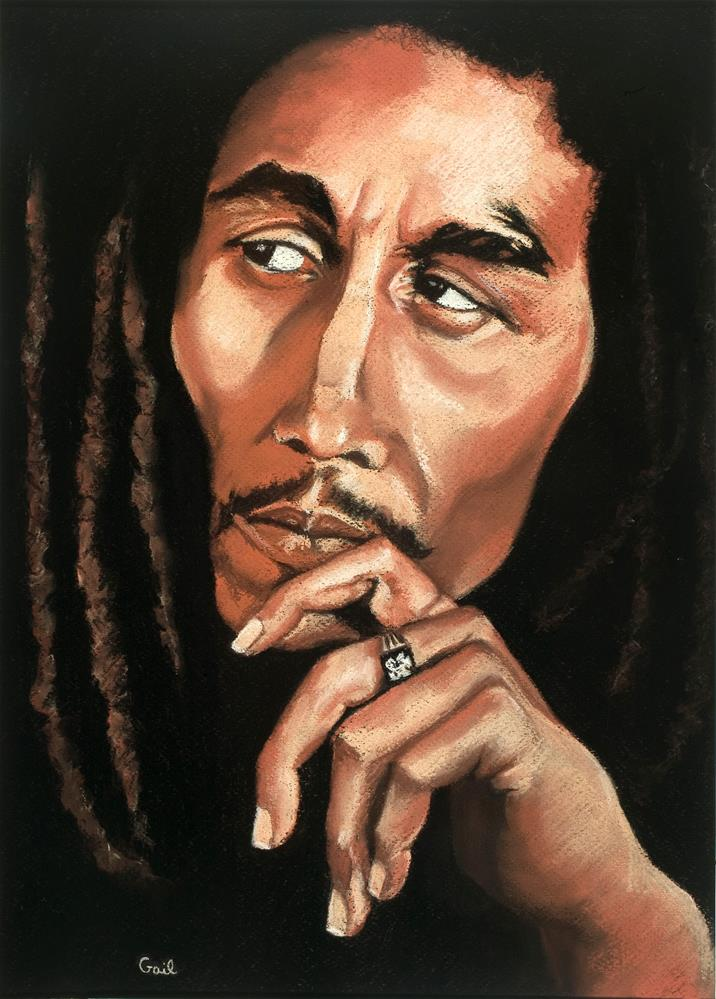"""Bob Marley"" original fine art by G. G. Slockett"