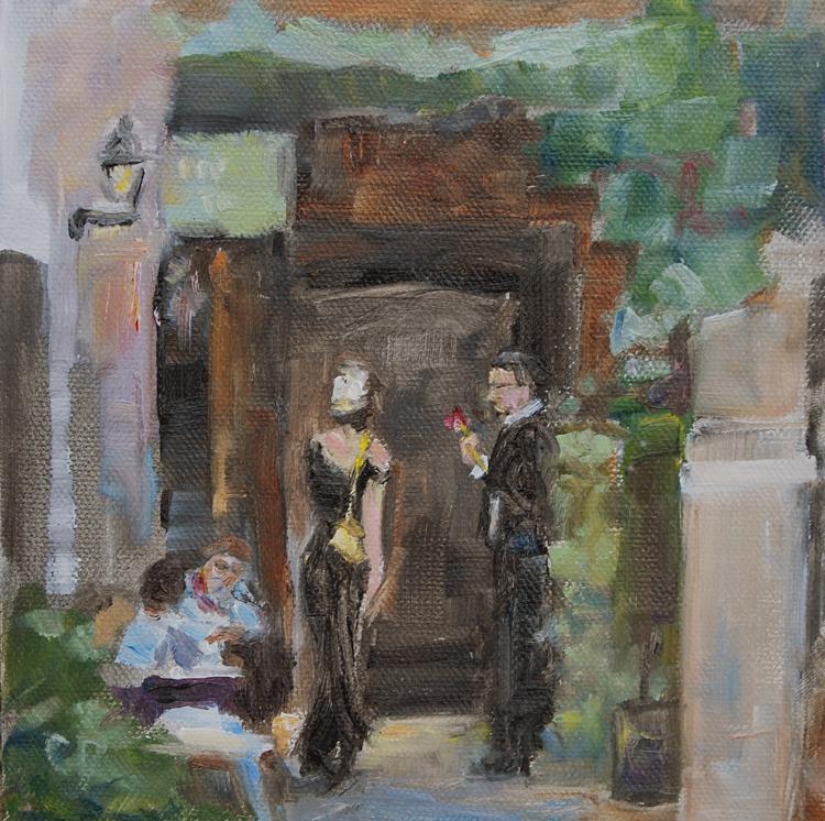 """We Meet Again"" original fine art by Carol DeMumbrum"