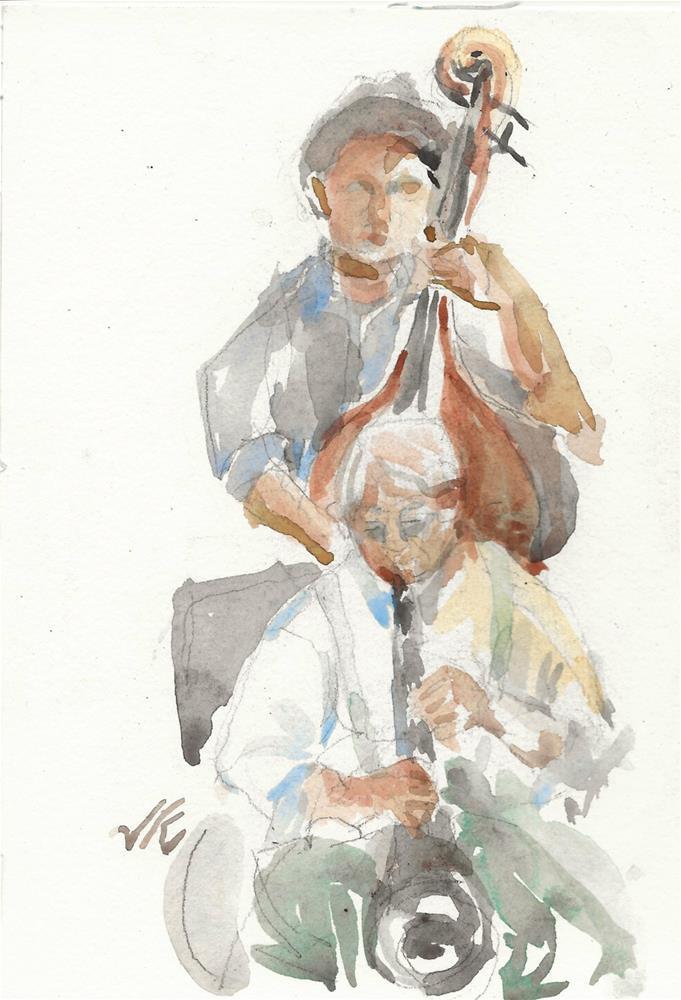 """""""Skip Parsons at McGearys, Albany, NY"""" original fine art by Jean Krueger"""