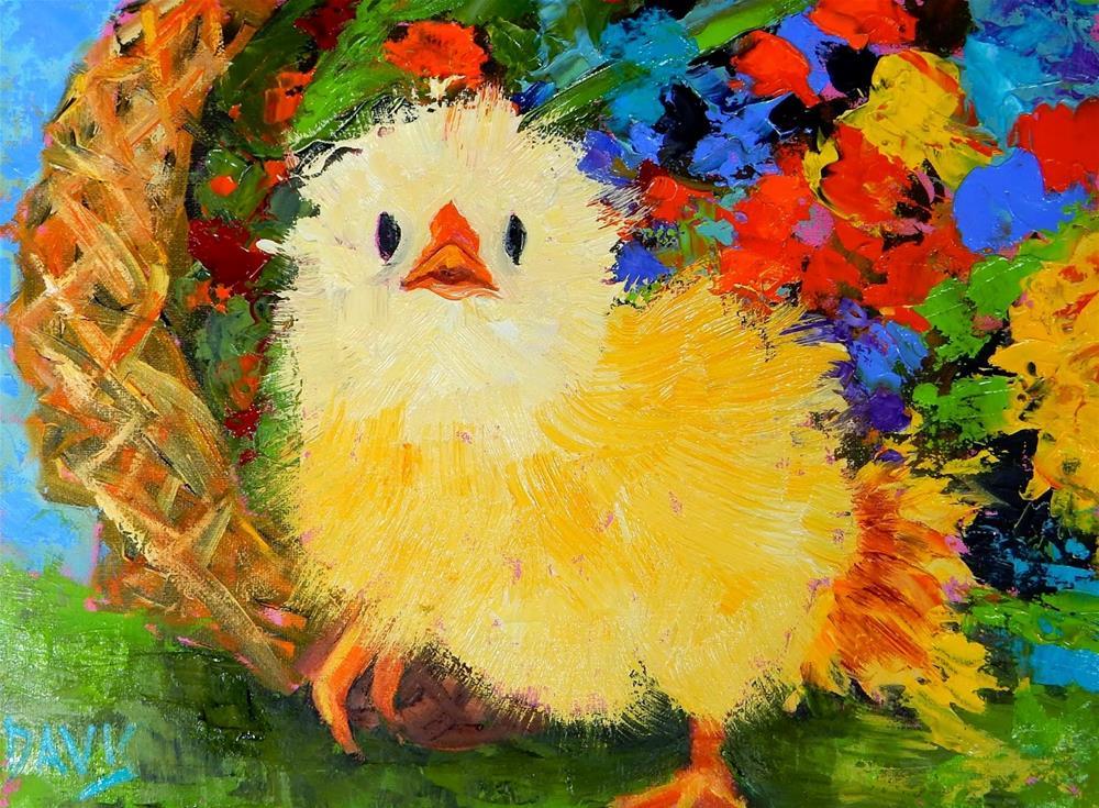 """""""A Basket of Cuteness"""" original fine art by Phyllis Davis"""