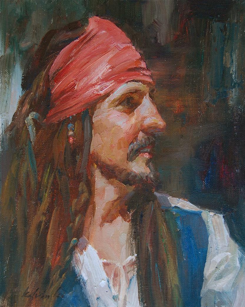 """Portrait Study No.3"" original fine art by Kelvin Lei"