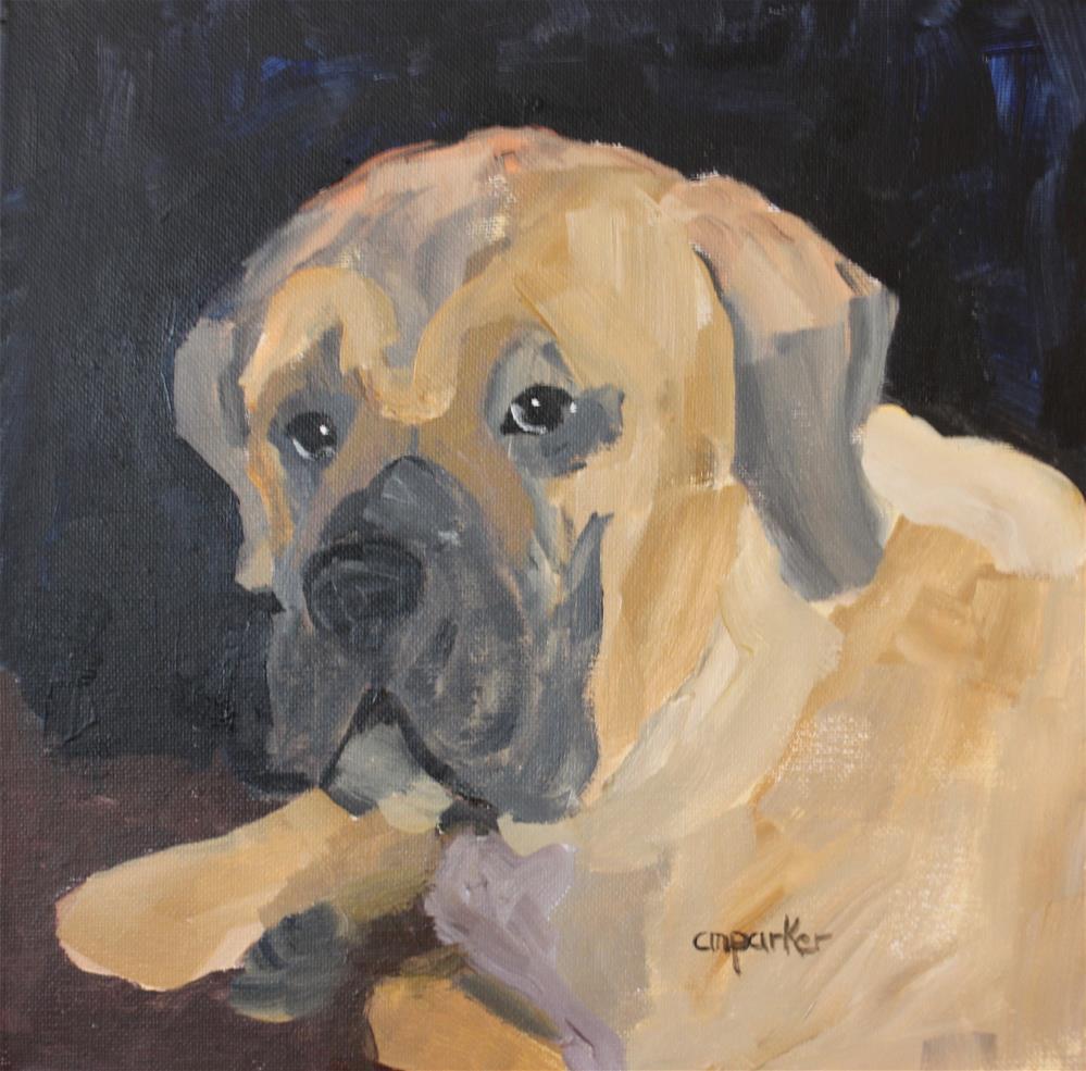 """""""Mastiff"""" original fine art by Christine Parker"""
