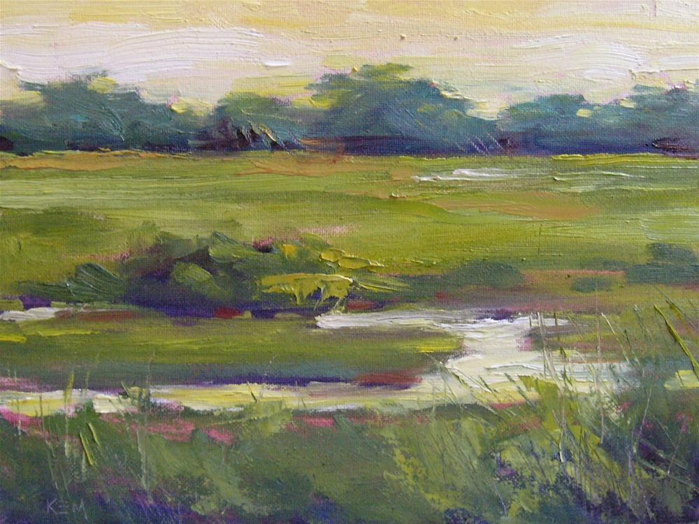 """Summer Comes to the Marsh"" original fine art by Karen Margulis"