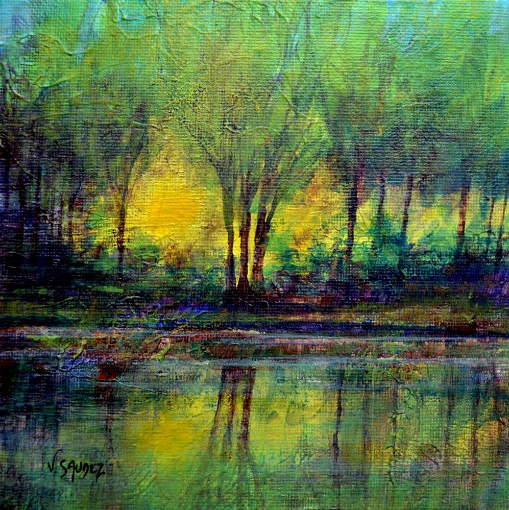"""In the light 3"" original fine art by Véronique Saudez"