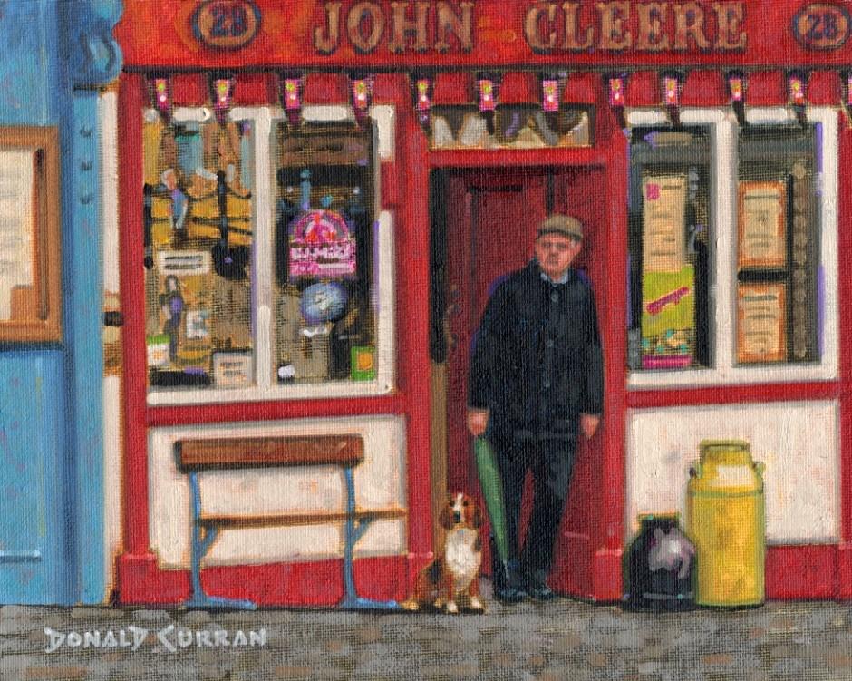 """Buddies at the Pub"" original fine art by Donald Curran"