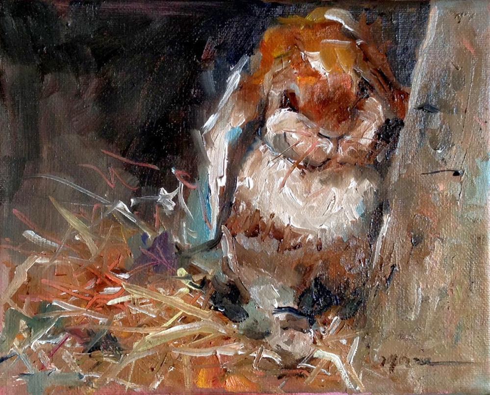 """""""I Smell Chocolate"""" original fine art by Marcia Hodges"""