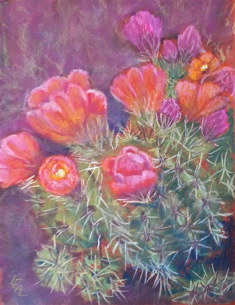 """Morning Claret Cups"" original fine art by Anna Lisa Leal"