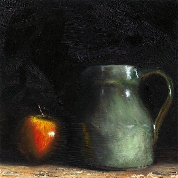 """""""Apple with cider jug"""" original fine art by Peter J Sandford"""