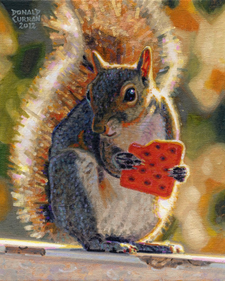 """Snack Time"" original fine art by Donald Curran"