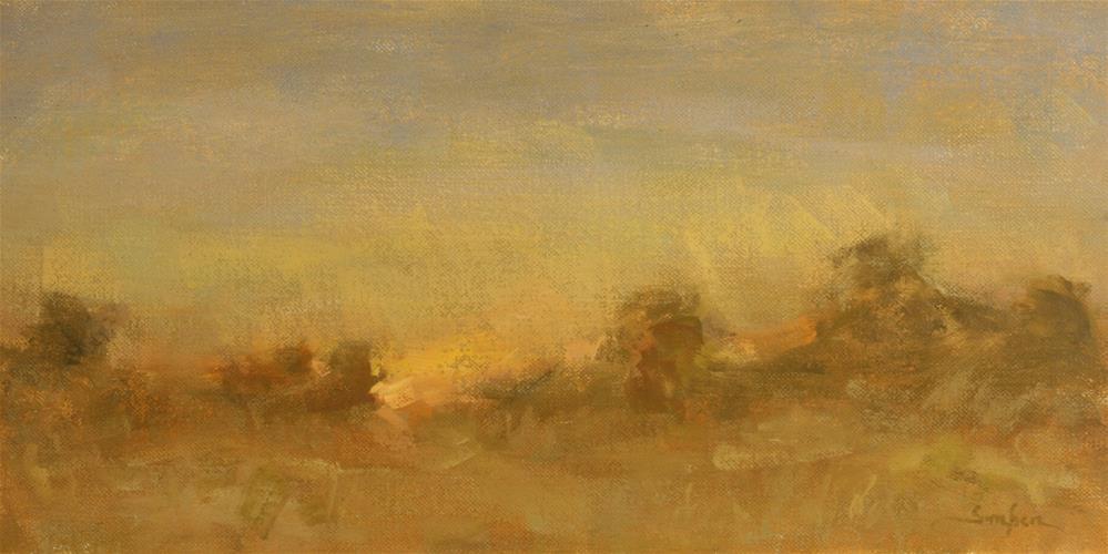 """""""Texas Sunset"""" original fine art by Scott Serafica"""